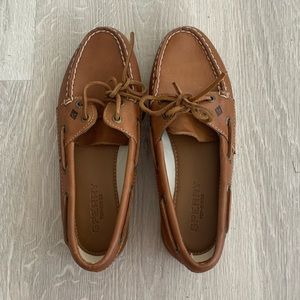 Never Worn women's brown leather Sperry's